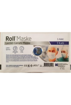 Roll Lastikli Steril Cerrahi Maske-40'lı x 2 Paket