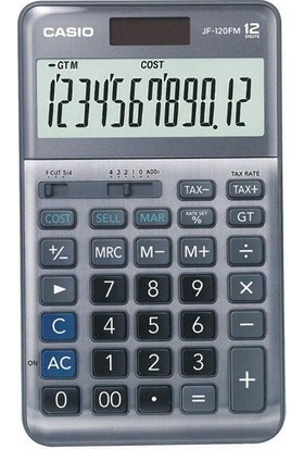 Casio JF-120FM 12 Hane Masa Üstü Hesap Makinesi