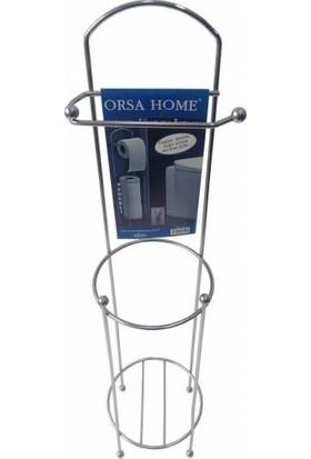 Orsa Home Wc Kağıtlığı Yedekli Ayaklı