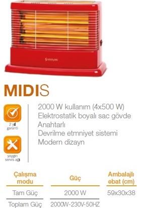 Mınısan MS2000 Midis Quartz Isıtıcı