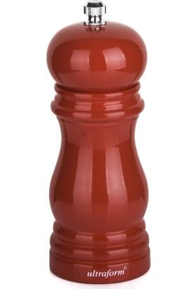 Ultraform Ahşap Tuz Değirmeni 13 cm Kırmızı