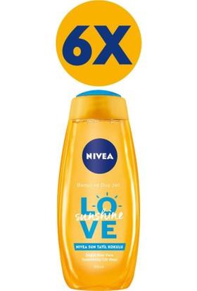 Nivea Love Sunshine Tatil Kokusu Duş Jeli 500 ml x 6