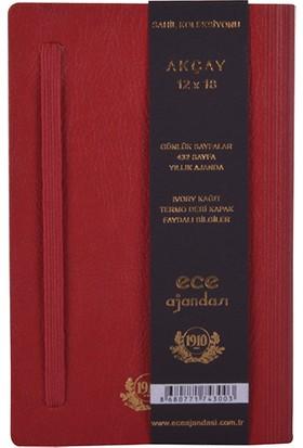 Ece Ajandası - 2021 Sahil Koleksiyonu - Akçay 12 x 18 cm Kırmızı
