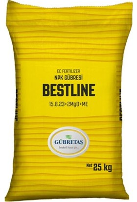 Gübretaş Bestline Edta Şelatlı Iz Element Toz Azot Nıtrat Ure Sebze Meyve Çilek Npk Gübresi 25 kg