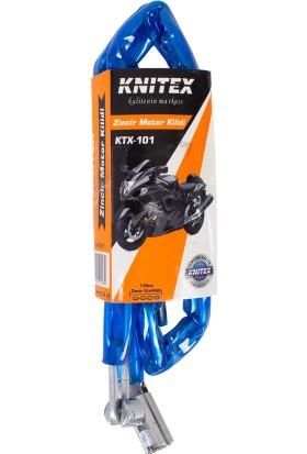 Knitex KTX101 Zincirli Motor-Bisiklet Kilidi 110 cm