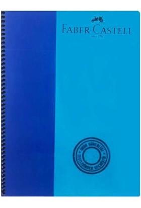 Faber-Castell Bicolor Spiralli Defter 120 Yaprak A4 Kareli