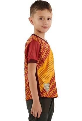 Galatasaray Omuz Omuza Sari Taraftar Çocuk Tshirt