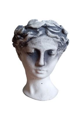 Bitki Tasarımı Helen Model Orta Boy Saksı Antik Gri