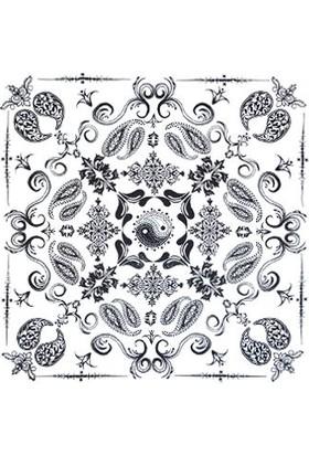 Metal Giyim Kare Bandana 03 Beyaz