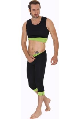Giyincel Erkek Neopren Termal Spor Ve Terletme Atleti Ve Uzun Tayt Set