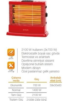 Minisan Maximus MS2100 2100W Buharlı Quartz Soba