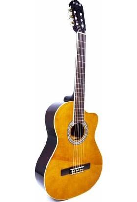 Nevada AC-965CLBR Cutaway Kahverengi Klasik Gitar