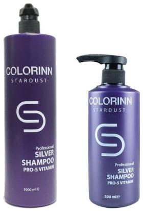 Colorinn Stardust Silver Mor Şampuan 1000 ml + 500 ml