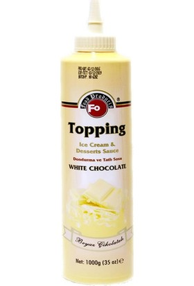Fo Topping Beyaz Çikolata Aromalı Dondurma ve Tatlı Sosu 1000gr