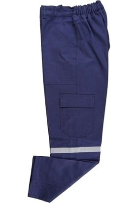 Buriş Gabardin Kışlık 7/7 Lacivert Iş Pantolonu S