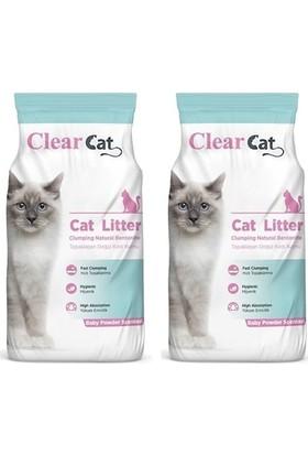 Clear Cat Bebek Pudrası Kokulu İnce Taneli Kedi Kumu 10 kg x 2 Adet
