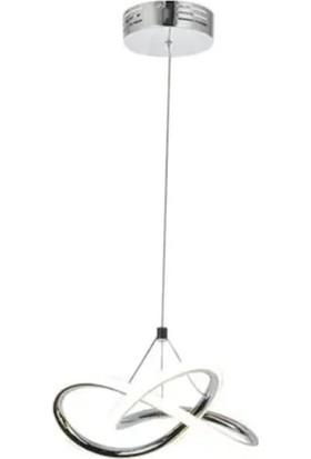 Burenze Modern Tekli Sarkıt Power LED Avize Concept Ürün Krom Beyaz Işık