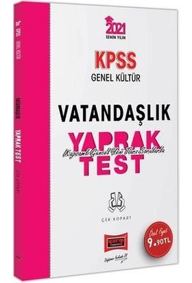 Yargı Yayınları 2021 KPSS Genel Kültür Vatandaşlık Çek Kopart Yaprak Test