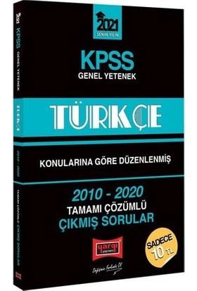 Yargı Yayınları 2021 KPSS Türkçe Konularına Göre Düzenlenmiş Tamamı Çözümlü Çıkmış Sorular