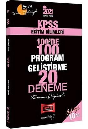 Yargı Yayınları 2021 KPSS Eğitim Bilimleri 100'de 100 Program Geliştirme Tamamı Çözümlü 20 Deneme