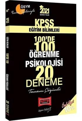 Yargı Yayınları 2021 KPSS Eğitim Bilimleri 100'de 100 Öğrenme Psikolojisi Tamamı Çözümlü 20 Deneme