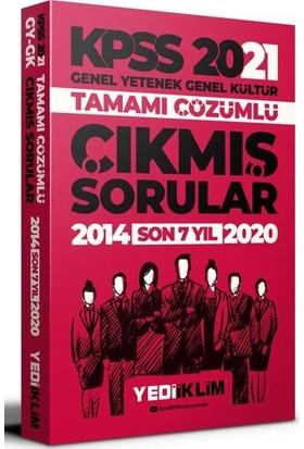 Yediiklim Yayınları 2021 KPSS GY-GK Tamamı Çözümlü Son 7 Yıl Çıkmış Sorular