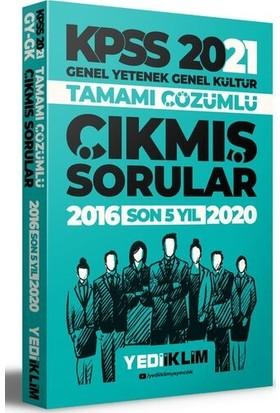 Yediiklim Yayınları 2021 KPSS GY-GK Tamamı Çözümlü Son 5 Yıl Çıkmış Sorular