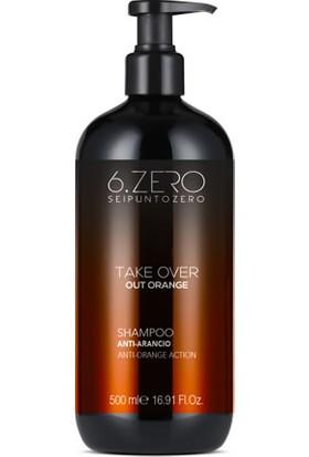 6. Zero Take Over Out Orange Shampoo - Koyu Saçlar Için Turuncu Önleyici Şampuan 500 ml