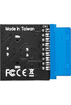 Silverstone CP14-E USB 3.0 19Pin - USB 3.1/3.2 Type C 20Pin Başlık (SST CP14 E)