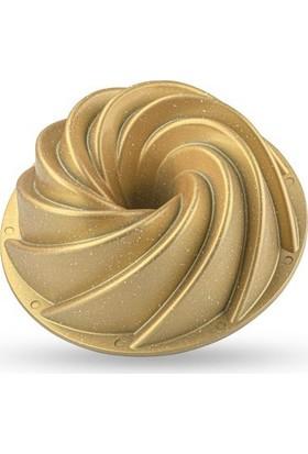 Taç Rüzgar Gülü Döküm Kek Kalıbı Gold