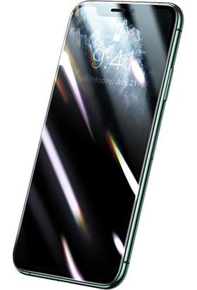 Baseus 0.25 mm Apple iPhone 11 Pro Max Xs Max 3D Curved Privacy Gizlili Cam Ekran Koruyucu AL-32822
