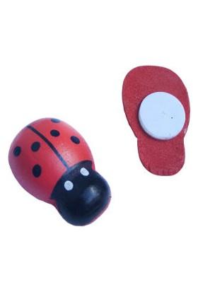 Benim Marifetlerim Kırmızı Ahşap Uğur Böceği 1 cm 100 Adet