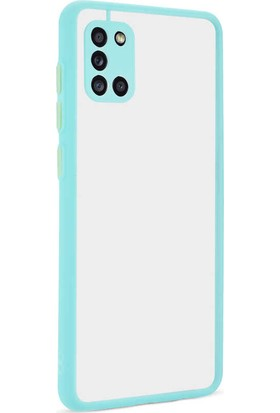 Vendas Samsung Galaxy A31 Mara Serisi Premium Silikon Kılıf Turkuaz