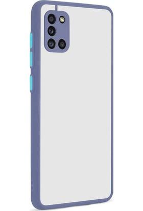 Vendas Samsung Galaxy A31 Mara Serisi Premium Silikon Kılıf Mor