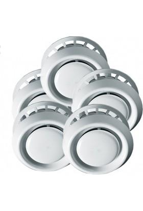 Blauberg 5'li Vpr 100 Plastik Gemici Anemostat Beyaz