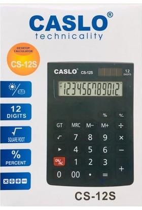 Caslo Technicality Cs-12 S 12 Haneli Hesap Makinası Siyah