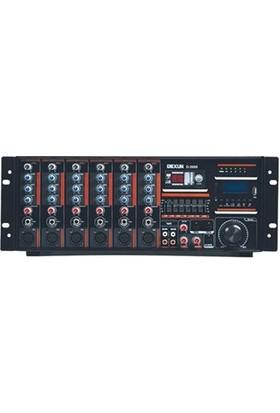 Dexun D-2600 6 Kanal 600W 100V 4-16 Ohm Cami Amfisi