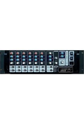 Dexun Rd-600 6 Kanal 600W 1-16 Ohm Dijital Reverb Cami Anfisi