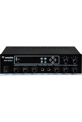 Westa Wm-605U Hat Trafolu 2 Bölgeli 100W Power Mikser