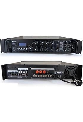 Dexun D-250 6 Bölge 250W 100V 4-16 Ohm Amfi Mikser