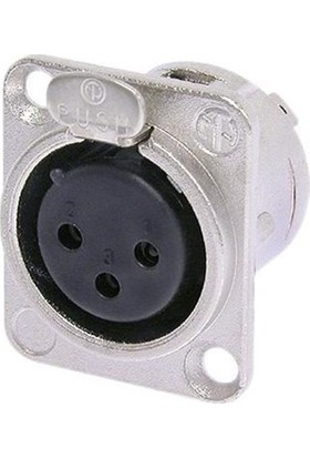 Neutrik Nc3Fd-L-1 Şase Tipi 3 Pin Disi Xlr Konnektör