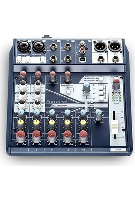 Soundcraft Notepad 8Fx 8 Kanal 2 Profesyonel Mikrofon Preamp, Kayıt Mikseri