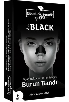 Rituel De Beuate Aktif Karbon Siyah Nokta Burun Band 3 Lü
