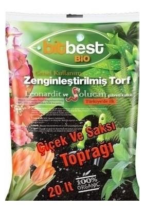 Bitbest Bio 20 lt Bitki Saksı Toprağı Solucan Gübreli Torf Humus Perlit