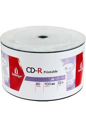 Boş Cd-R Iomega Prıntable 50'li Boş CD Printable