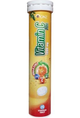 Dnz Vitamin C Plus Efervesan Tablet Portakal Aromalı 1000 Mg