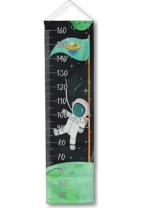 Makeart Baby Astronot Çocuk Odası Boy Ölçer