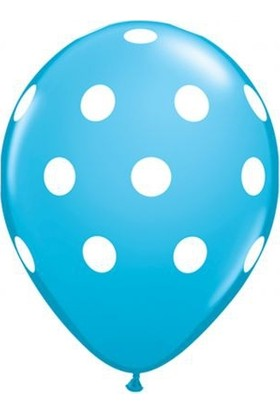Balonevi Balon Mavi Puantiyeli 100 Adet