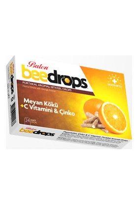 Balen Beedrops Meyankökü-Çinko-C Vitamini Portakal Aromalı Drops