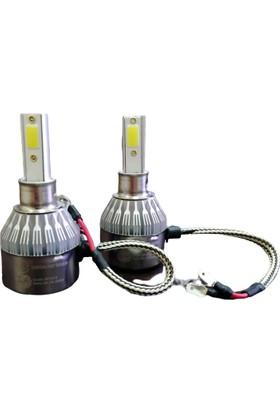 Sfx LED Xenon H4 Cob LED Şimşek Etkili Far Ampul Seti